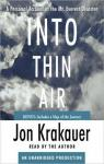 Into Thin Air: A Personal Account of the Mt. Everest Disaster par Krakauer